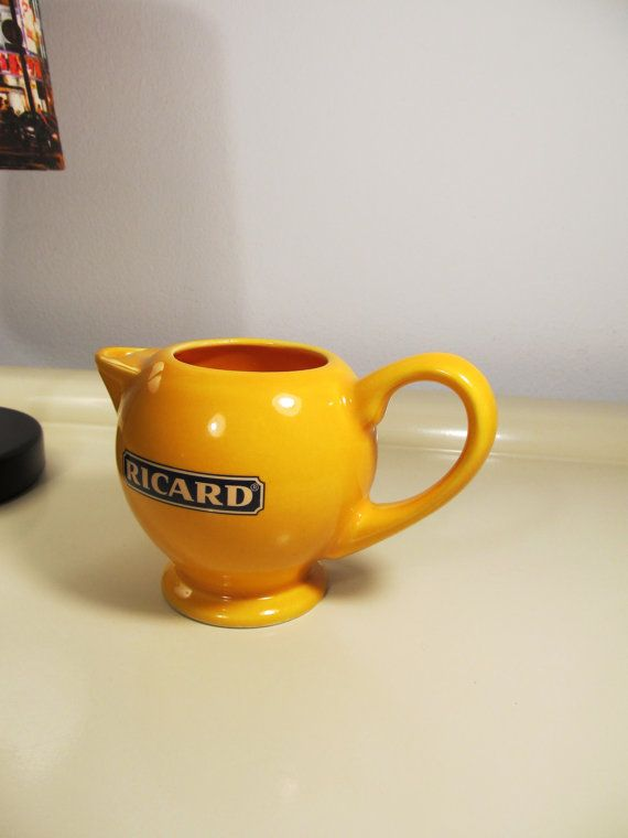 Check out this item in my Etsy shop https://www.etsy.com/listing/270515729/vintage-yellow-french-ricard-pastis