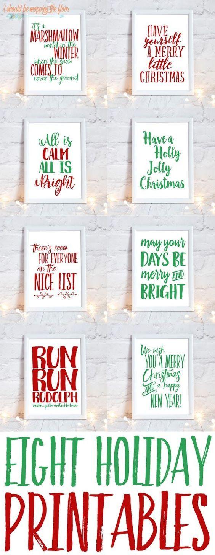 Free Christmas Printables #christmasprintables #christmasdecor #printable