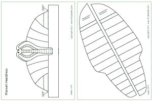 Pharaoh headdress template - To sse on Life Size Sarcophagus decoration