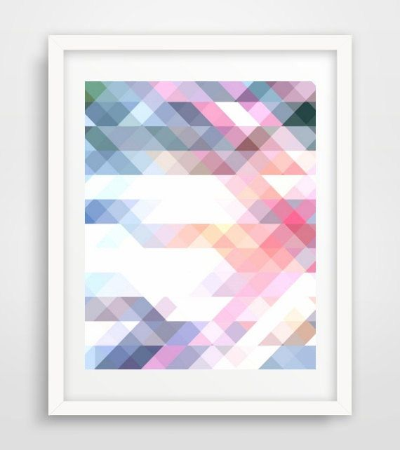 Geometric Print,  Printable Art, Triangle Print, Abstract Art Print,  Instant Download, Modern Wall Art, Wall Print