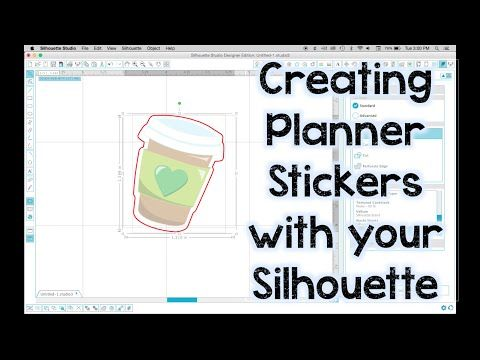 Creating Planner Stickers with the Silhouette - YouTube