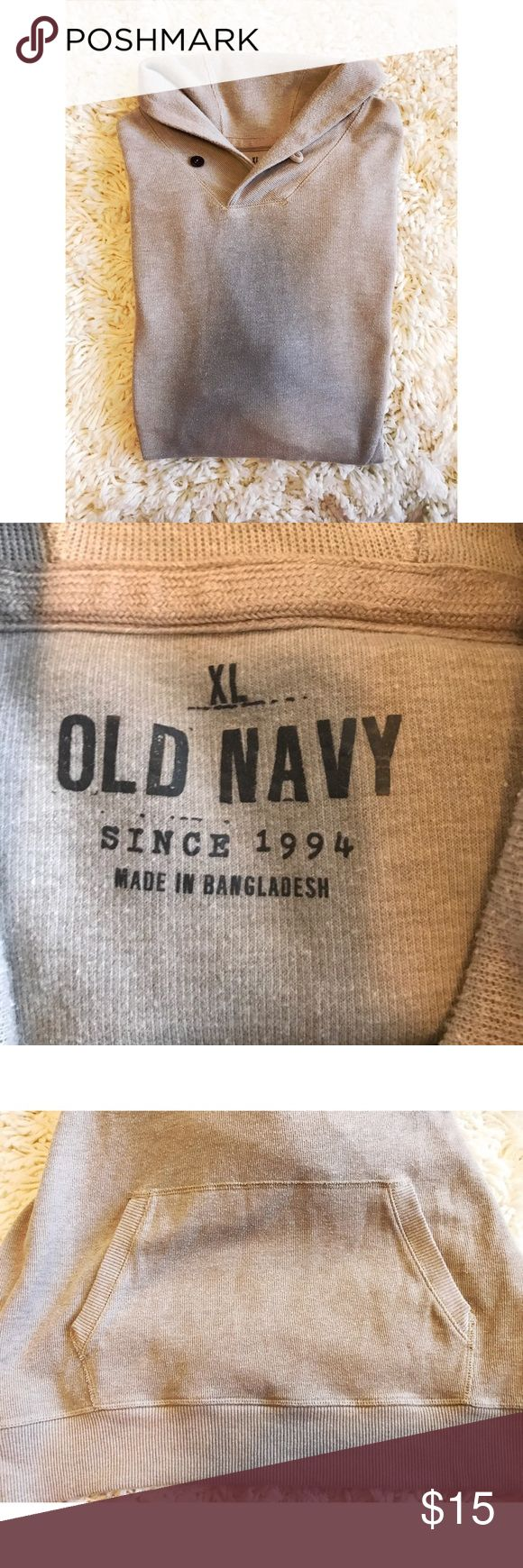 Old Navy Sweater Handsome shawl collar. Front pocket. Old Navy Sweaters