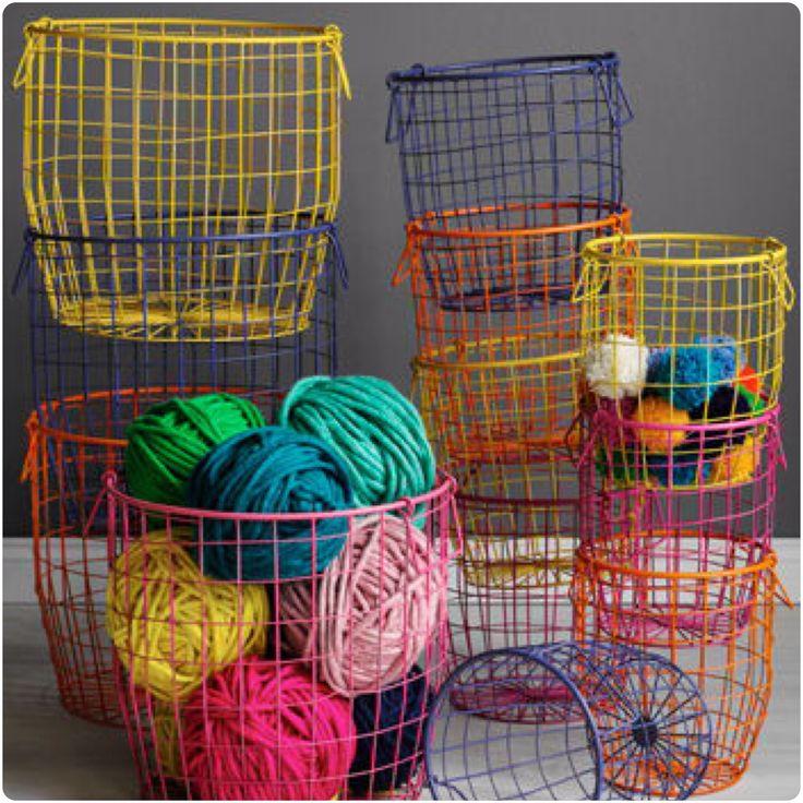 Wire storage baskets kidsinteriordesigns.com.au