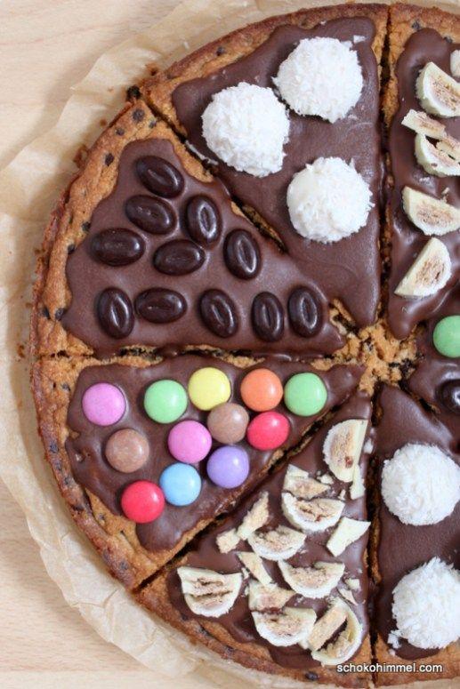 Cookie-Pizza für kleine und große Kinder - Schokohimmel