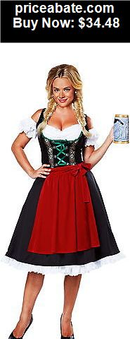 Women-Costumes: Cheers Traditional German Dirndl Fraulein Dress Oktoberfest Costume Adult Women - BUY IT NOW ONLY $34.48