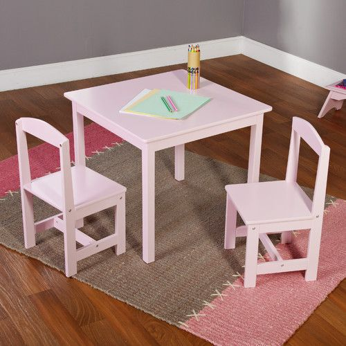 TMS Hayden Kids' 3 Piece Square Table and Chair Set