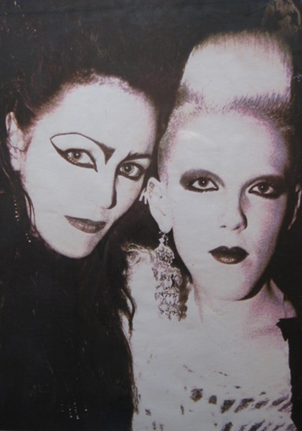 Scarlett Cannon and Juliana Sissons from the London club scene in the early 1980s