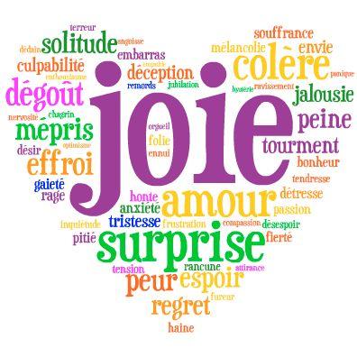 French vocabulary to talk about feelings and emotions. Vocabulaire de sentiments en français.