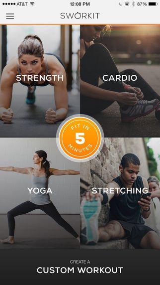 Sworkit Pro - Personal Trainer for Daily Circuit Training Workouts, Yoga, Pilates and Stretching Routines That Fit Your Schedule by Nexercise