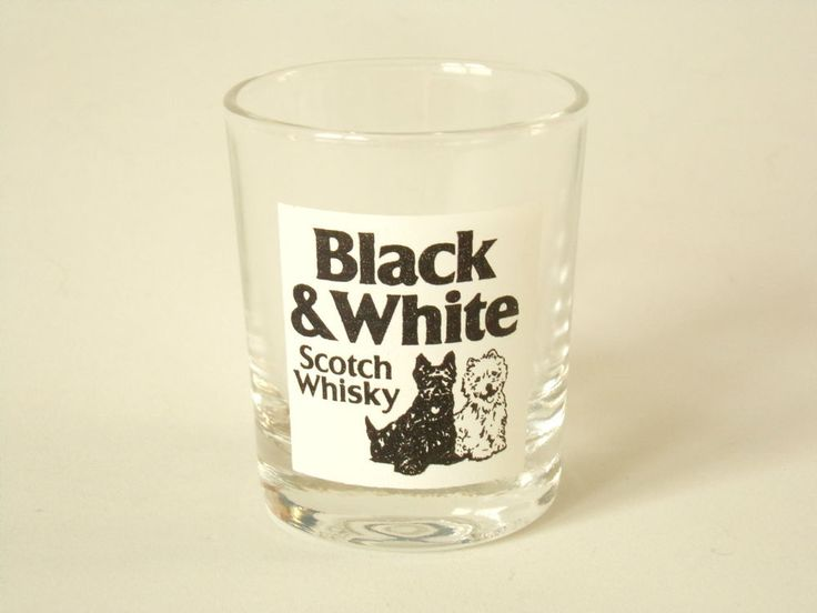 Black And White Scotch Whisky Shot Glass