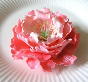 PEONIES GUM PASTE FLOWERS - Cake Decorations ~ BEAUTIFUL