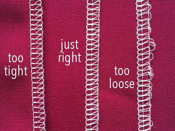 Clean Stitches: How to Adjust Sewing Machine Tension - serger thread tension-top side