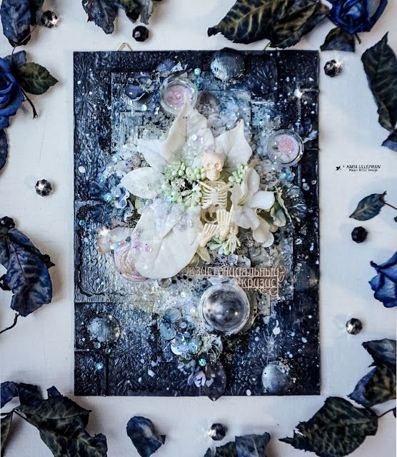 Gothic mixed media canvas by Maria Lillepruun