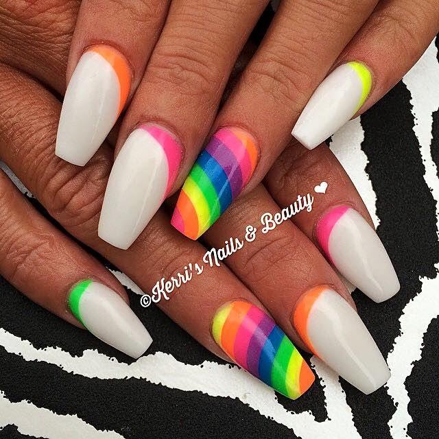 293 best Rainbow Nails images on Pinterest | Rainbow nails, Nail ...