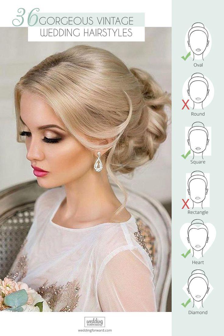36 Always Feminine Vintage Wedding Hairstyles Wedding Forward Retro Wedding Hair Vintage Wedding Hair Wedding Hairstyles Updo