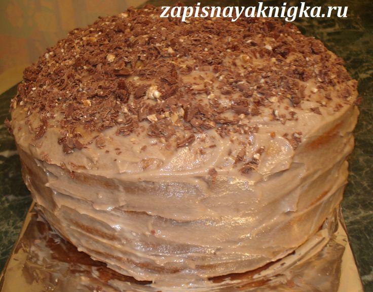 Быстрый медовый торт с шоколадным кремом