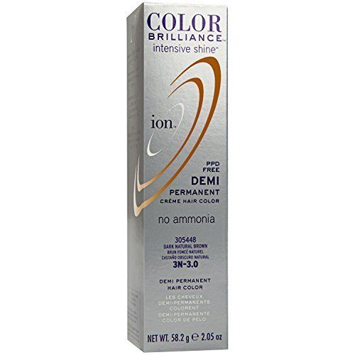 Intensive Shine 3N Dark Natural Brown Demi Permanent Creme Hair Color by Ion -- Be sure to check out this helpful article. #hairrepair
