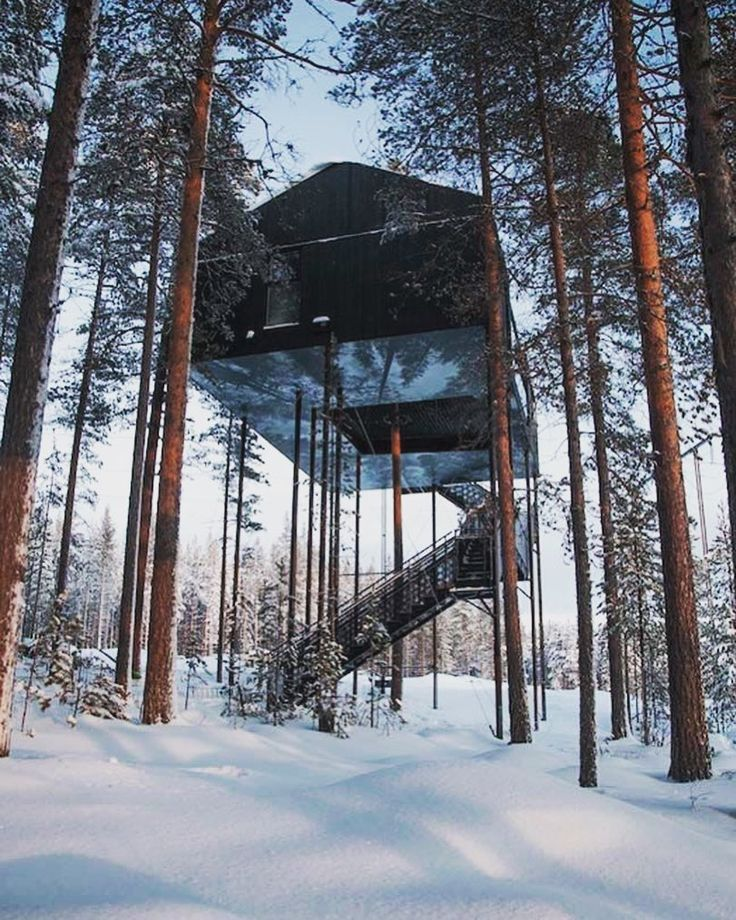 The 7th room project was designed by Snøhetta to create a wonderful Treehotel in the Northern #Sweden