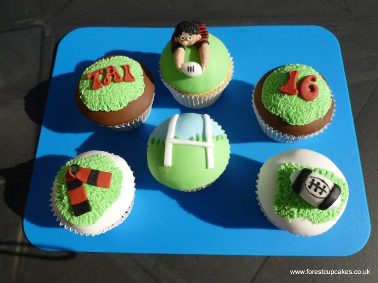 *** MY CAKES ***  The cakes I made for this rugby theme