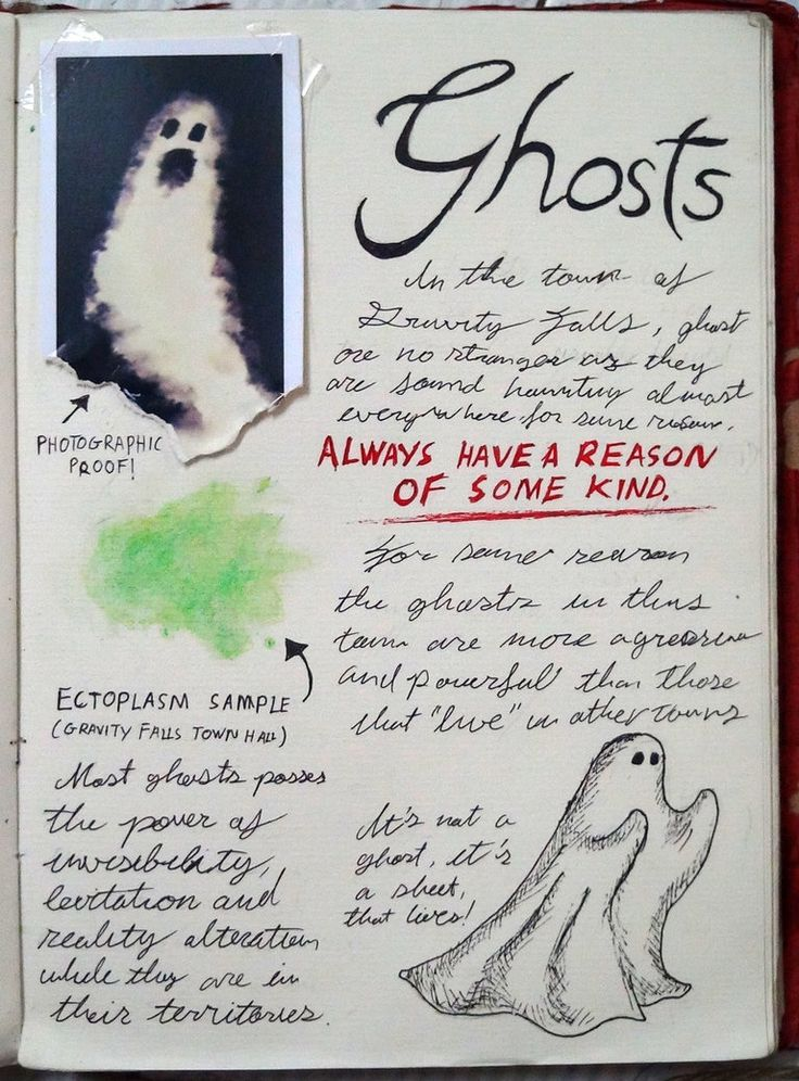 Gravity Falls Journal 3 Replica - Ghost by leoflynn on DeviantArt