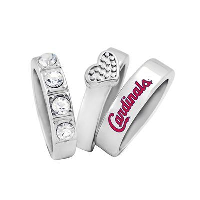 St. Louis Cardinals Game Time MLB Ladies Undefeated Stacked Ring