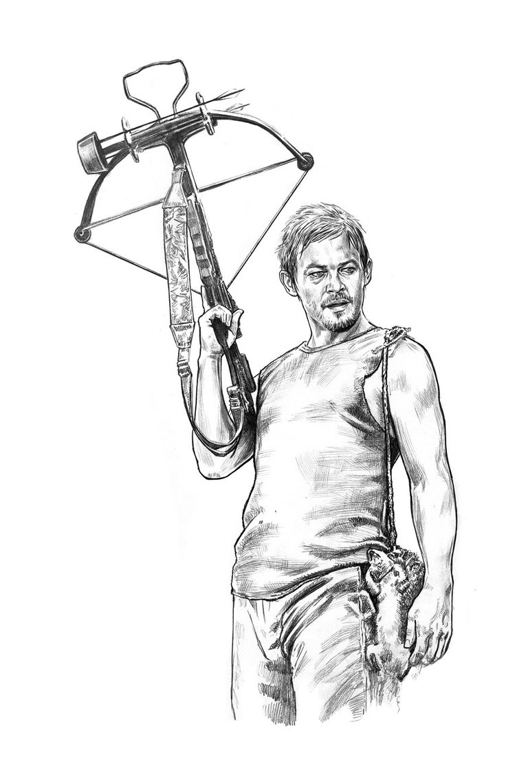 daryl dixon coloring pages - photo#1