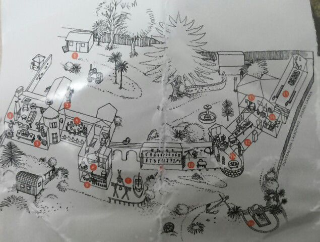 Mapa del recorrido de la casa del poeta en Isla Negra.