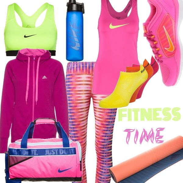 Colore, colore, colore!   Diamo una sferzata di energia anche all'abbigliamento sportivo. Ideale per il fitness in palestra e a casa, o per fare jogging.    Un mix di colori che farà venir voglia di fare sport anche alle più pigre!