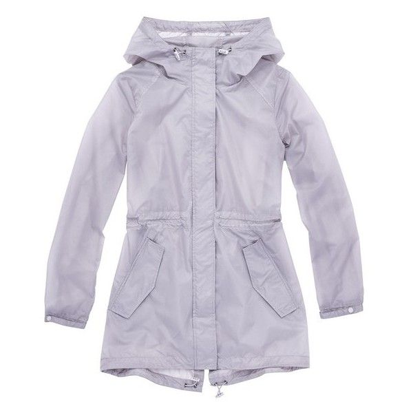 Andrew Marc Teri (3,640 PHP) ❤ liked on Polyvore featuring outerwear, coats, grey, parkas, rain coat, grey parka, hooded rain coat, grey coat and mac coat