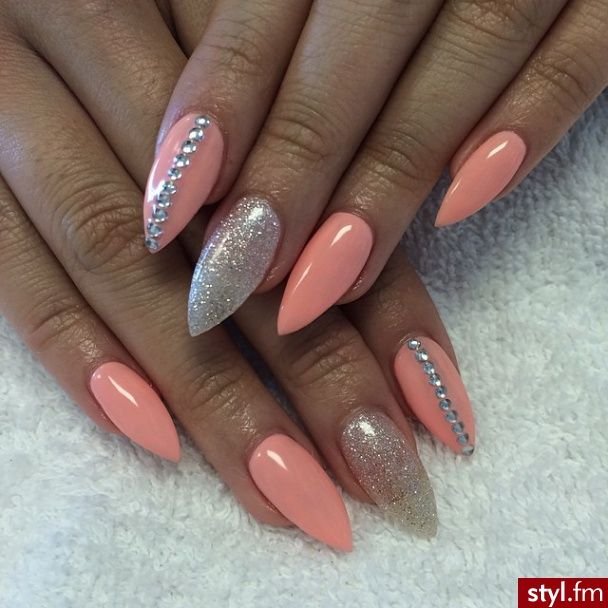 Elegant stiletto nail art