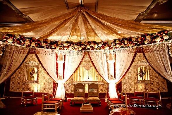 Rosy mandap. indian wedding inspiration turns into house decorating