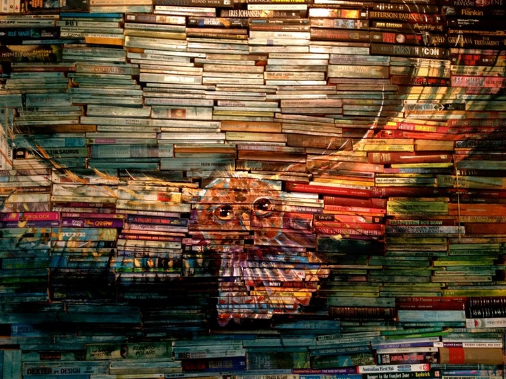 Now we use EBooks I have found a way to keep our old books - scifi abound in this installation!