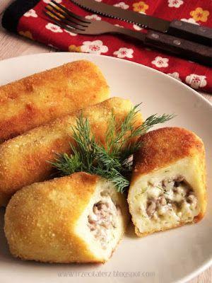 Krokiety ziemniaczane z farszem - kuchnia podkarpacka