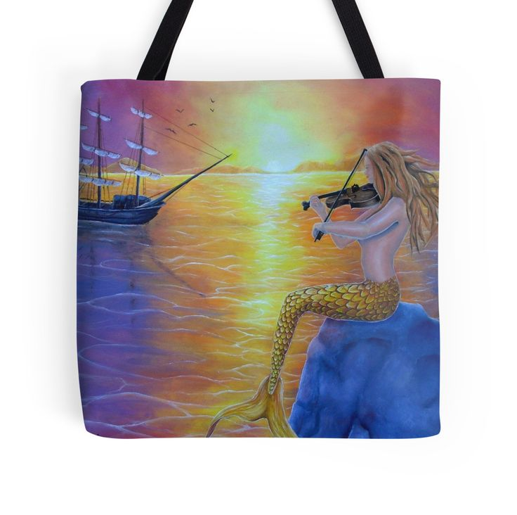 Tote Bag,   mermaid,colorful,cool,beautiful,unique,trendy,artistic,unusual,accessories,for sale,design,items,products,gifts,presents,ideas,redbubble