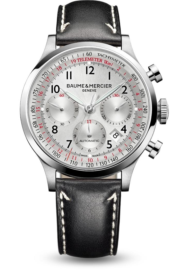 Capeland 10005 automatic chronograph watch for men, designed by Baume et Mercier, Swiss Watch Maker.