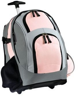TPS Rolling Backpacks Take the strain off by rolling this wheeled pack, or use the shoulder straps to carry it like a backpack. - 600 denier polyester with ripstop accents and reinforced bottom - Larg