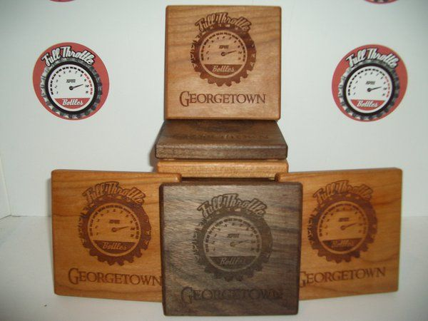 Full Throttle Bottle Etched Coasters