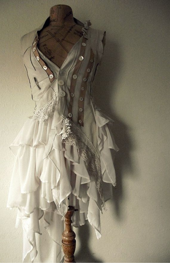 Leather and lace dress from NaturallyBohemian.: Ideas, Babydoll Dress, Costumes, Inspiration, Style, Dresses, Outfit, Closet