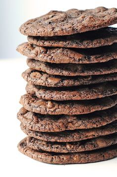 These Double Dark Chocolate Cookies with a touch of salt are quite possibly the perfect chocolate cookie.