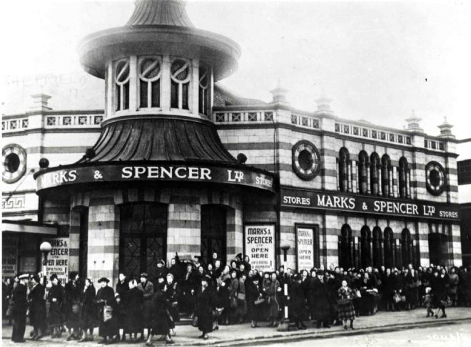 M&S Sheffield the Moor Store 1941 #RePin by AT Social Media Marketing - Pinterest Marketing Specialists ATSocialMedia.co.uk