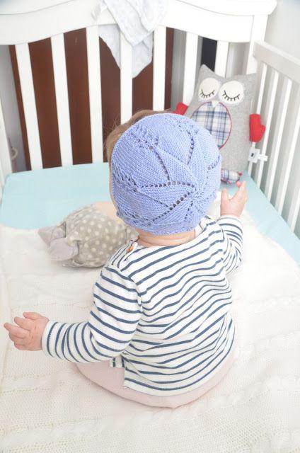 Patron gratis punto capota bebe con estrella Free knitting pattern lanitasypapel.blogspot.com