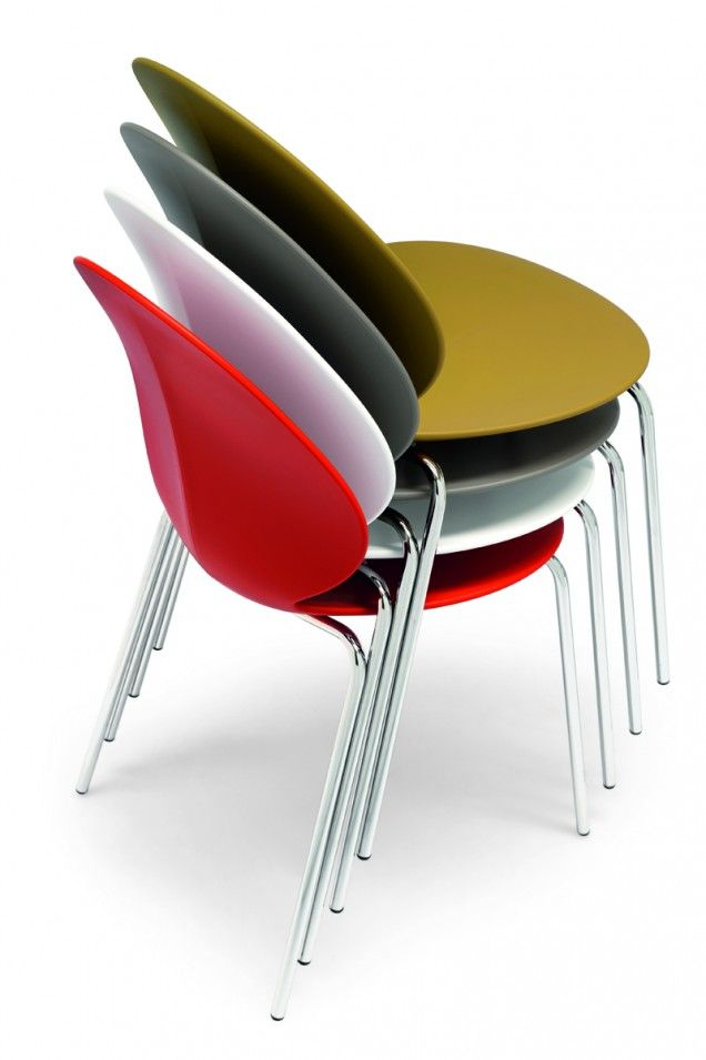 The Calligaris Basil Comes In Many Different Colors Find This Pin And More On Victoria BC Dining Chairs