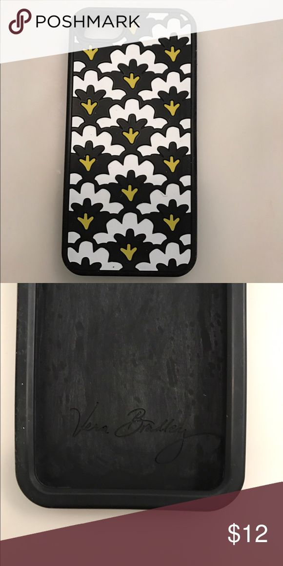 Vera Bradley 5s phone case Black, white & lime Vera Bradley silicone phone case in Fanfare Vera Bradley Accessories Phone Cases
