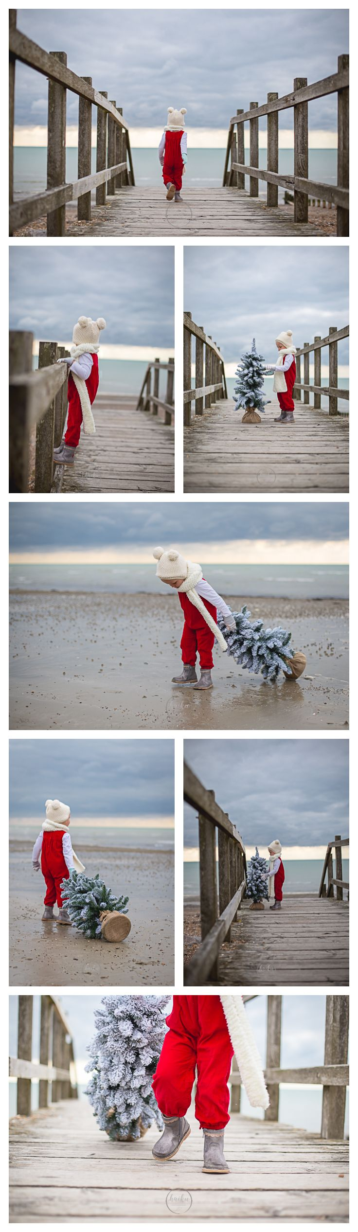 Haiku Photography | Family & Child Christmas Portrait Session at the beach | Worthing West Sussex