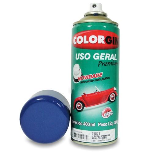 Tinta Spray Colorgin Uso Geral Azul Colonial