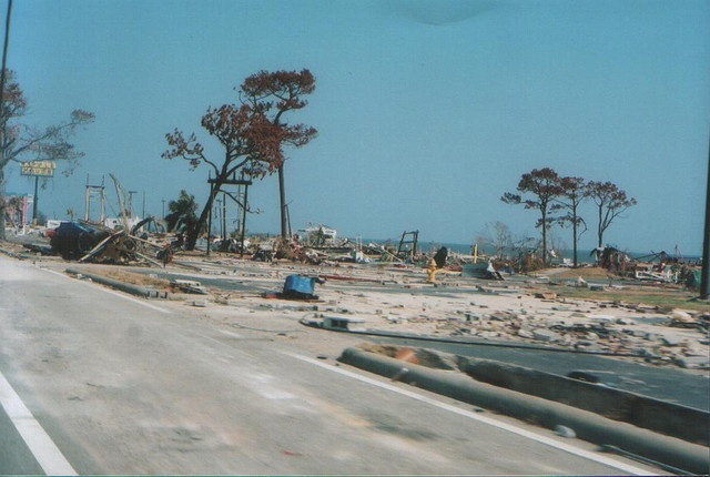 Post Hurricane Katrina South Mississippi...FYI this is what all of HWY 90 on the coast looked like after Katrina!!!!!  We are all still trying to rebuild.  New Orleans knows nothing.