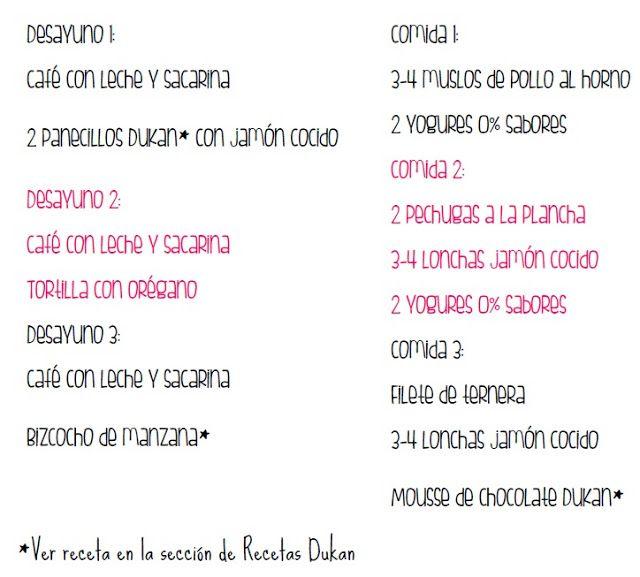 Dieta Dukan: fases, lista de la compra, ejemplos de menús