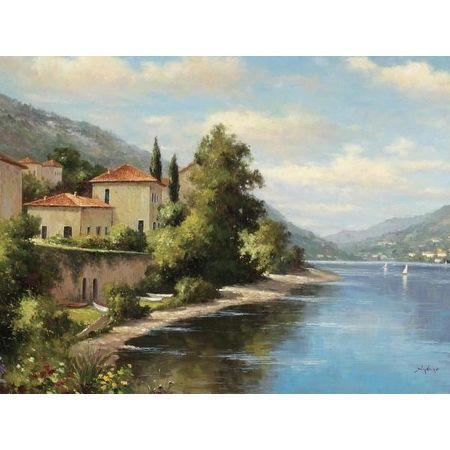 Casa De Lago by Andino Landscapes And Scenery Art Print