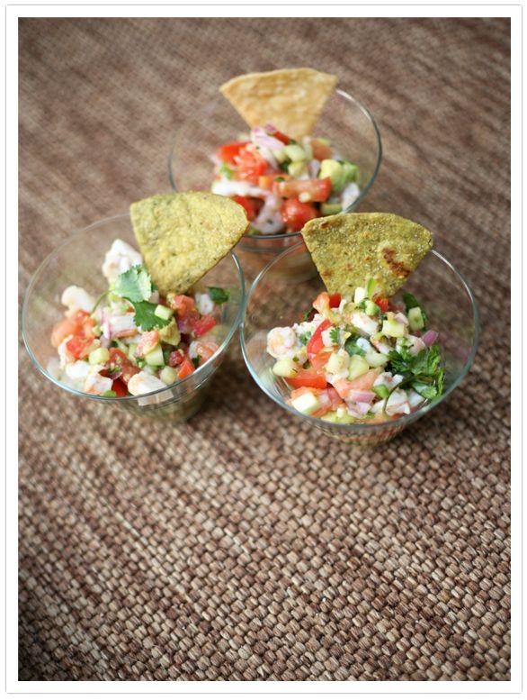 From Muy Bueno Cookbook: Shrimp Ceviche: Lights Meals, Tortillas Chips, Ceviche Recipe, Ceviche Shrimp, Cooking Lights, Appetizers Ceviche, Muybuenocookbook Appetizers, Shrimp Ceviche, Drinks Recipe