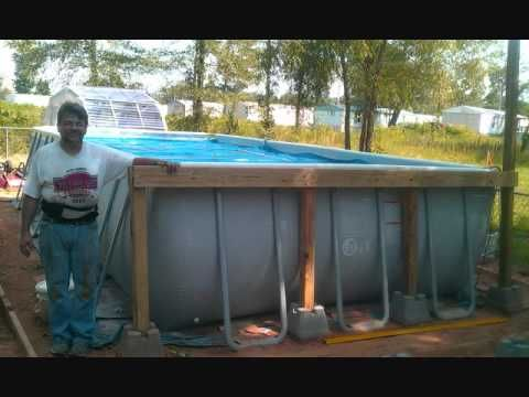 Decks for intex pools intex pool and deck how to save for How to save money building a house